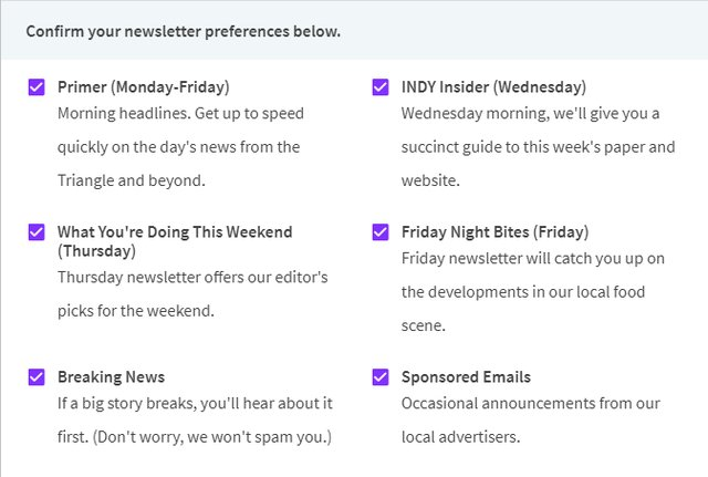 INDY Newsletters