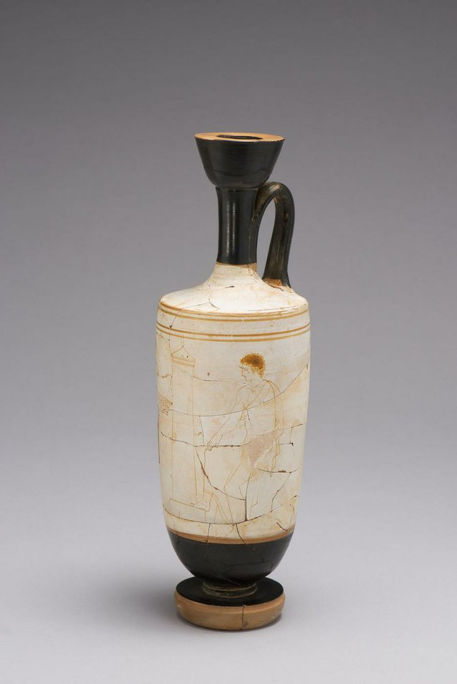 Funerary Vessel (lekythos) with Mourning Scene, c. 430-420 BCE